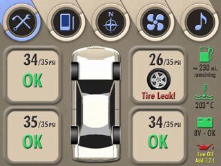 Screenshot of an example in-vehicle display.